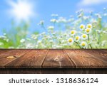empty wooden table background | Shutterstock . vector #1318636124