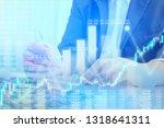 businessman on digital stock... | Shutterstock . vector #1318641311