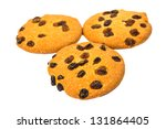 cookies with raisins isolated... | Shutterstock . vector #131864405