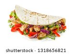 tortilla wrap with fried... | Shutterstock . vector #1318656821