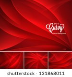 curvy abstract background | Shutterstock .eps vector #131868011