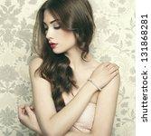 portrait of young beautiful... | Shutterstock . vector #131868281