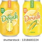 pineapple juice and corn water... | Shutterstock .eps vector #1318683224