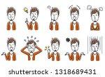 young man  set | Shutterstock .eps vector #1318689431