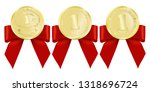 luxury gold badges and sports... | Shutterstock .eps vector #1318696724