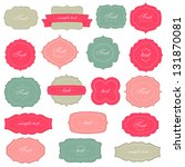 vintage labels set | Shutterstock .eps vector #131870081
