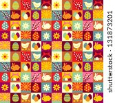 easter seamless pattern | Shutterstock .eps vector #131873201
