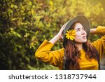 asian tourist nature  relaxing... | Shutterstock . vector #1318737944