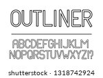 trendy font. minimalistic style ...   Shutterstock .eps vector #1318742924
