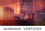 the trader considers the data... | Shutterstock . vector #1318751324