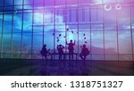 success in trading on the stock ... | Shutterstock . vector #1318751327