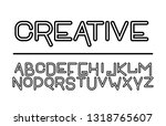 trendy font. minimalistic style ...   Shutterstock .eps vector #1318765607