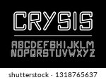 trendy font. minimalistic style ... | Shutterstock .eps vector #1318765637