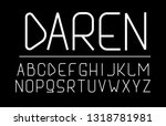 trendy font. minimalistic style ... | Shutterstock .eps vector #1318781981