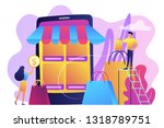 tiny people customers with bags ...   Shutterstock .eps vector #1318789751