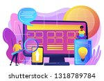 tiny people developers at... | Shutterstock .eps vector #1318789784
