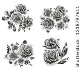 flowers set. collection of... | Shutterstock .eps vector #1318797611