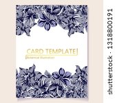 invitation greeting card with... | Shutterstock .eps vector #1318800191