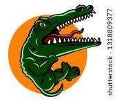 little evil crocodile.   vector. | Shutterstock .eps vector #1318809377