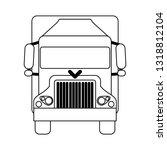 truck vehicle frontview symbol...   Shutterstock .eps vector #1318812104