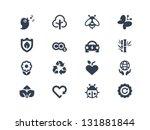 environment icons | Shutterstock .eps vector #131881844