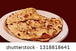 traditional indian butter roti...   Shutterstock . vector #1318818641