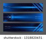 abstract futuristic technology... | Shutterstock .eps vector #1318820651