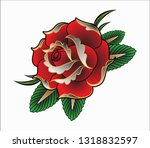 vector illustration of red... | Shutterstock .eps vector #1318832597