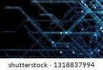 3d render digital background... | Shutterstock . vector #1318837994
