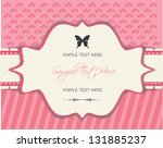 invitation  vintage frame ... | Shutterstock .eps vector #131885237
