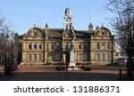 Ossett Town Hall near Wakefield West Yorkshire - stock photo