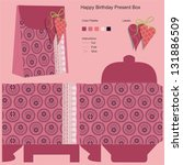 happy birthday gift box template | Shutterstock .eps vector #131886509