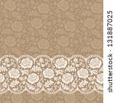 frame with lace | Shutterstock .eps vector #131887025