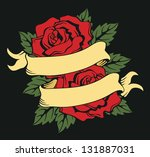 frame with roses | Shutterstock .eps vector #131887031