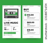 live music ticket booking app... | Shutterstock .eps vector #1318871654