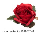 Stock photo artificial rose isolated on white 131887841