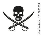jolly roger with crossed swords....   Shutterstock .eps vector #1318879694