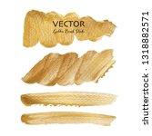 golden vector brush stroke ... | Shutterstock .eps vector #1318882571