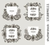 beautiful card with a square... | Shutterstock .eps vector #1318898111