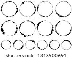 circle written with brush | Shutterstock .eps vector #1318900664