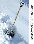 shovel in snow | Shutterstock . vector #131890685