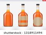 mockup set of whiskey bottle.... | Shutterstock .eps vector #1318911494