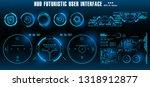 hud futuristic blue user... | Shutterstock .eps vector #1318912877