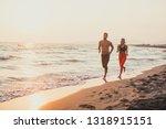 handsome caucasian man and... | Shutterstock . vector #1318915151