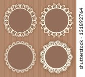 collection lace frames. vector... | Shutterstock .eps vector #131892764