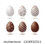 eggs with shadow isolated on... | Shutterstock .eps vector #1318932311