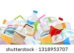 illustration of pile garbage... | Shutterstock .eps vector #1318953707