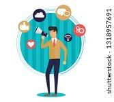 digital marketing flat... | Shutterstock .eps vector #1318957691
