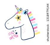 unicorn hand drawing vector.   Shutterstock .eps vector #1318979144