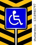 disabled signs blue colors on... | Shutterstock .eps vector #1318980797